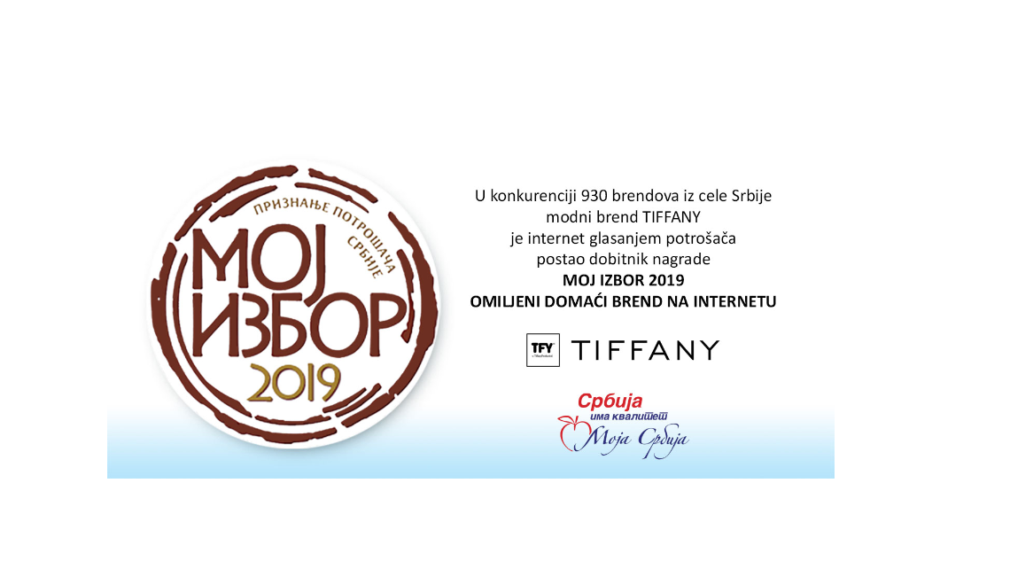 Tiffany Production Srpski modni brend TIFFANY dobitnik nagrade Moj izbor 2019
